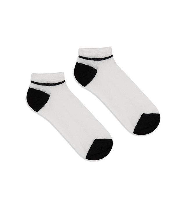 Topshop Glitter Trainer Socks