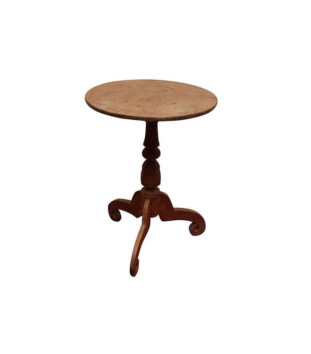 Berkshire Home & Antiques Pedestal Round Teak Wine Table