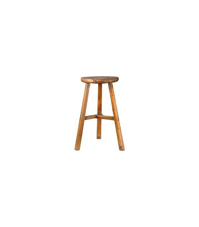 Antique Revival Farm-Style Three Legged Stool