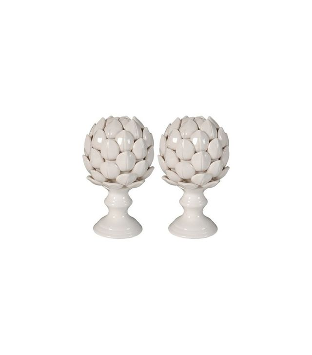 One Kings Lane Pair of Artichoke Finials