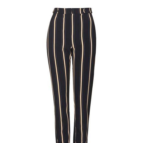 Stripe Print Cigarette Trousers