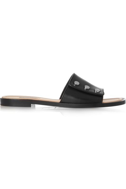 Balenciaga Studded Leather Slides