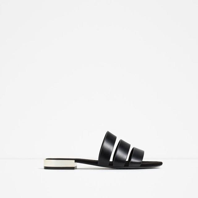 Zara Metal Heel Detail Flats