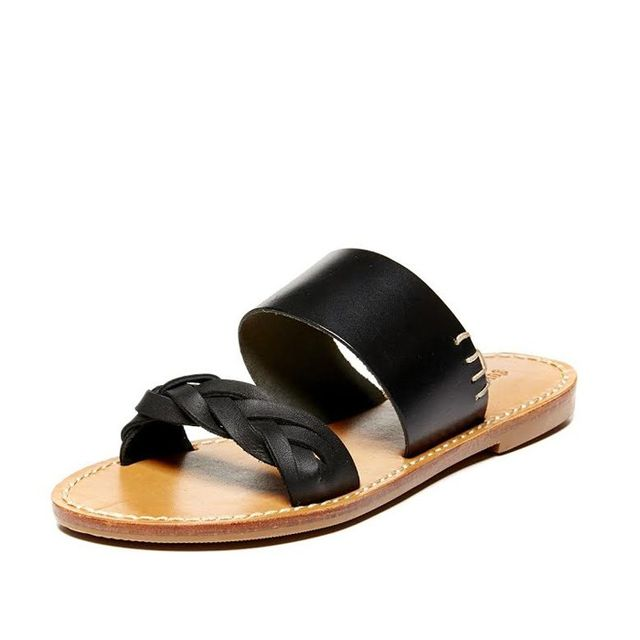Soludos Leather Braided Slide Sandals