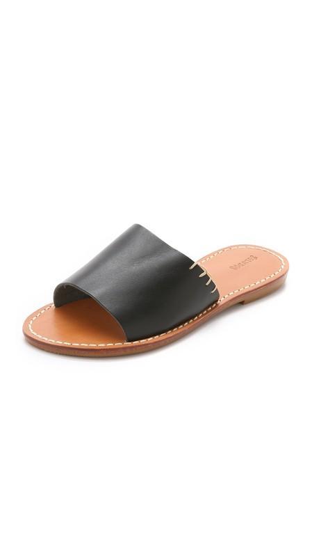 Soludos Leather Slide Sandals