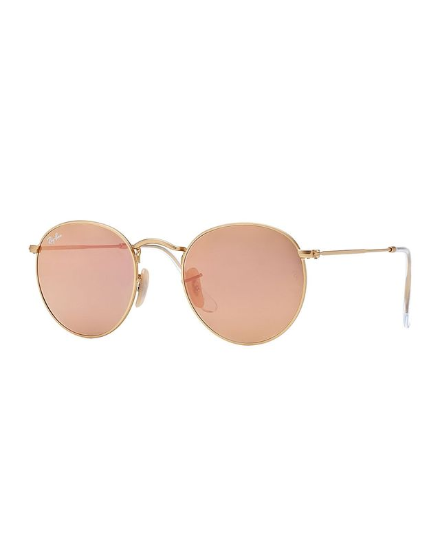 Ray Ban Metal-Frame Sunglasses