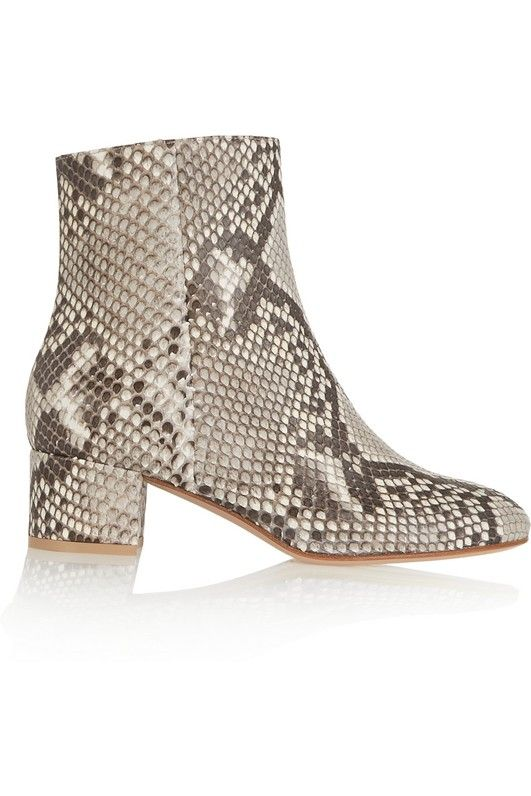 Gianvito Rossi Python Ankle Boots