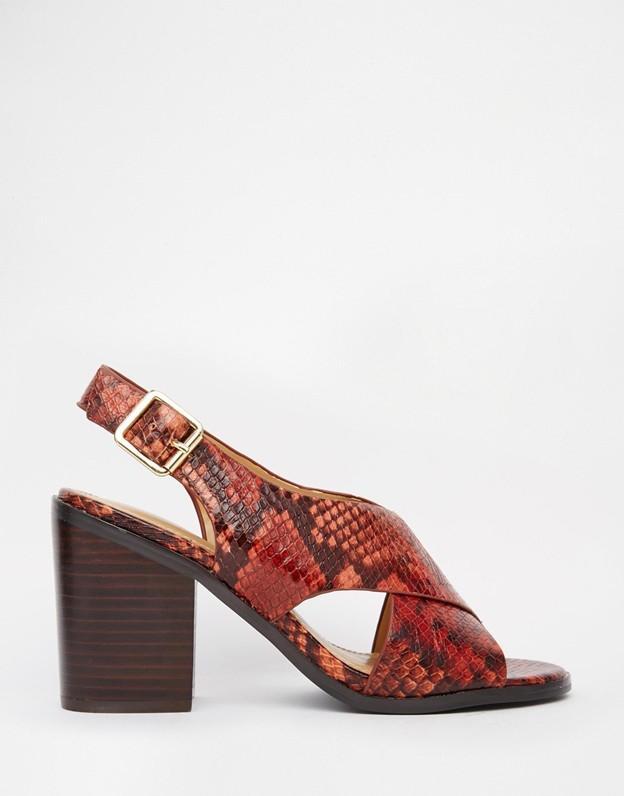 Aldo Marita Snake Effect Heeled Sandals