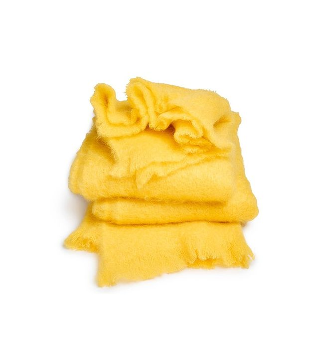 ABCDNA Mohair Citron Throw
