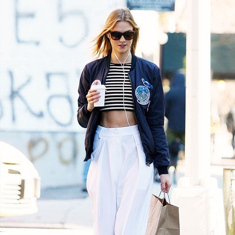 How To and What to Wear With a Bomber Jacket: Karlie Kloss