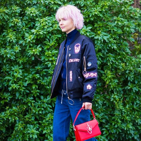 How To and What to Wear With a Bomber Jacket: Olga Karput