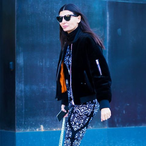 How To and What to Wear With a Bomber Jacket: Giovanna Battaglia