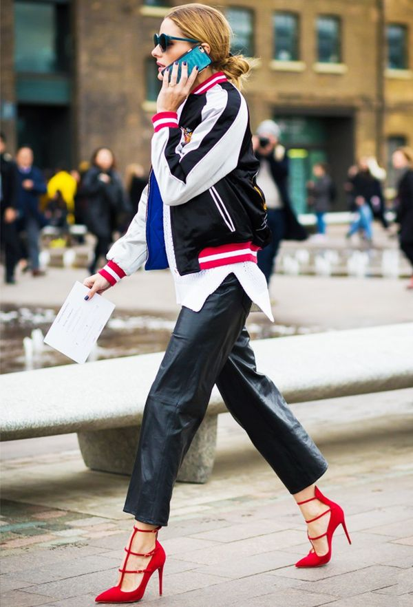 How To and What to Wear With a Bomber Jacket: Olivia Palermo