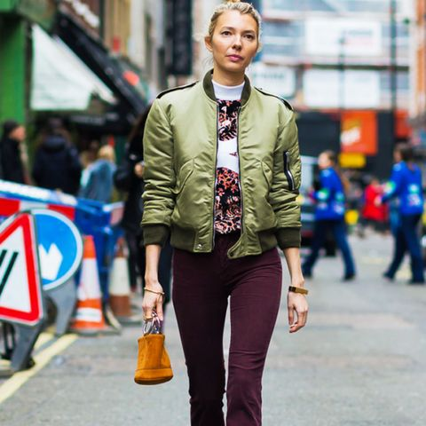 How To and What to Wear With a Bomber Jacket: Roberta Bentler