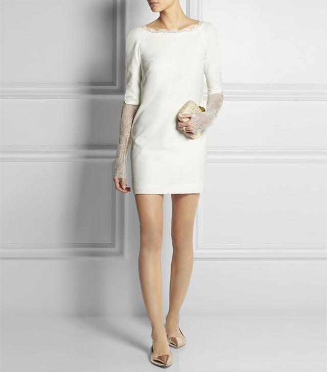 Rime Arodaky Jagger Lace-Paneled Crepe Mini Dress