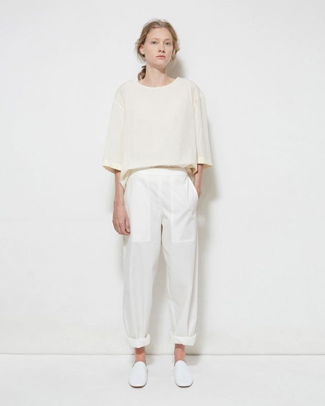 Lemaire Cropped Poplin Trousers
