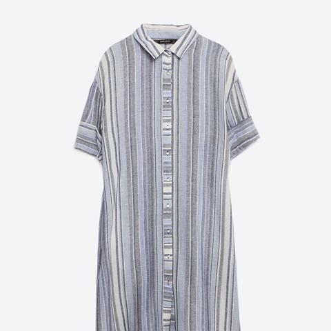 Striped Tunic Shirt Dress