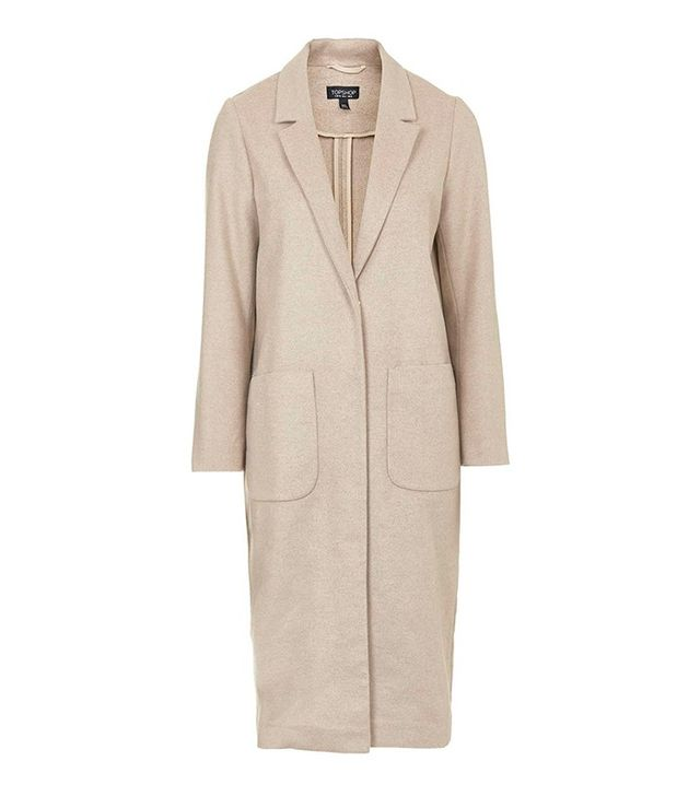 Topshop Patch Pocket Slouch Coat