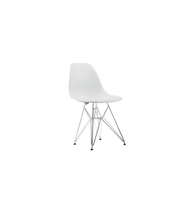 Eames Style Molded Plastic Eiffel Side Chair, Set of 2
