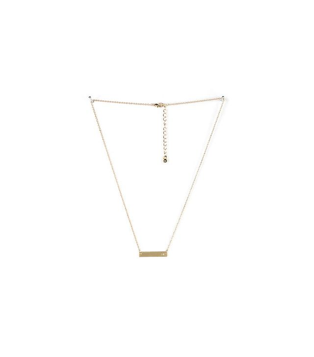 Urban Outfitters Gold Initial Bar Necklace