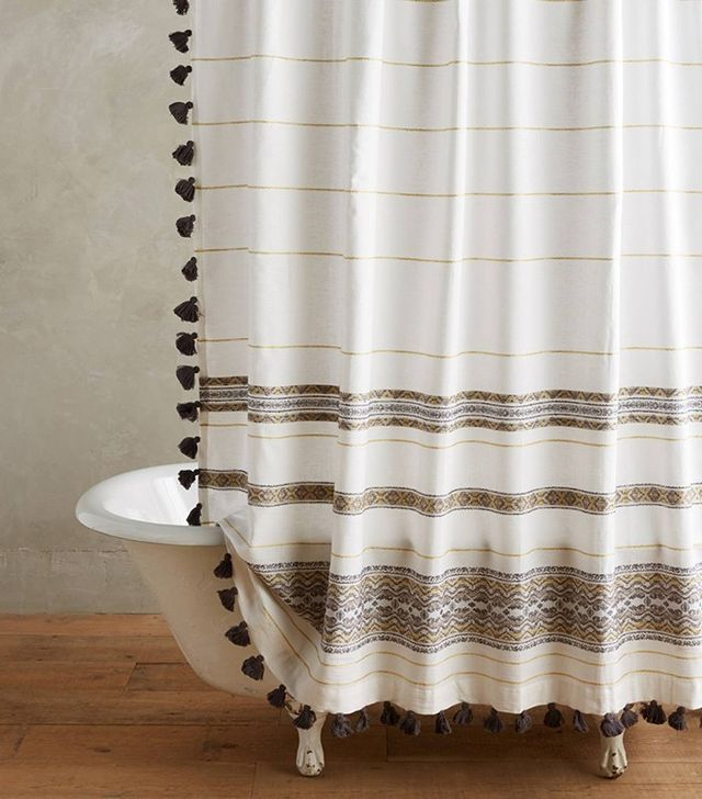 Anthropologie Diamanta Striped Shower Curtain
