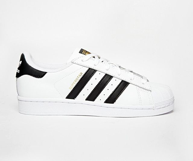 Adidas Originals Superstar Sneakers in White & Black