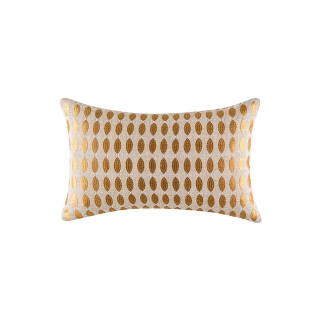 Freedom Pebble Cushion 35x55cm For Real Living in Gold Colour
