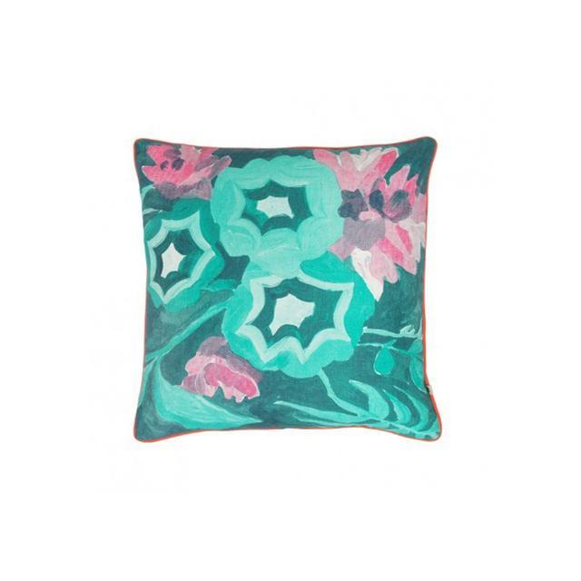 Bonnie and Neil Botanical Green Cushion