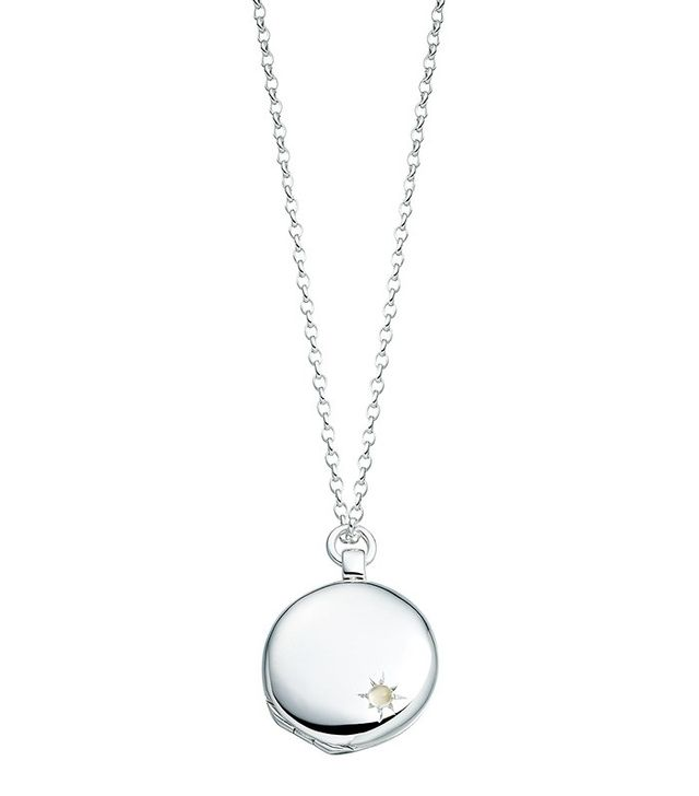 Astley Clarke Medium Astley Silver Locket Necklace