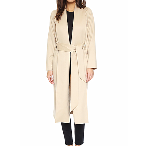The Fold Coat in Camel
