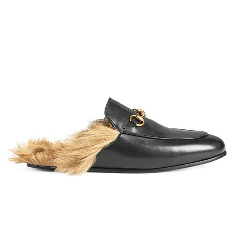 Furry Princetown Slippers