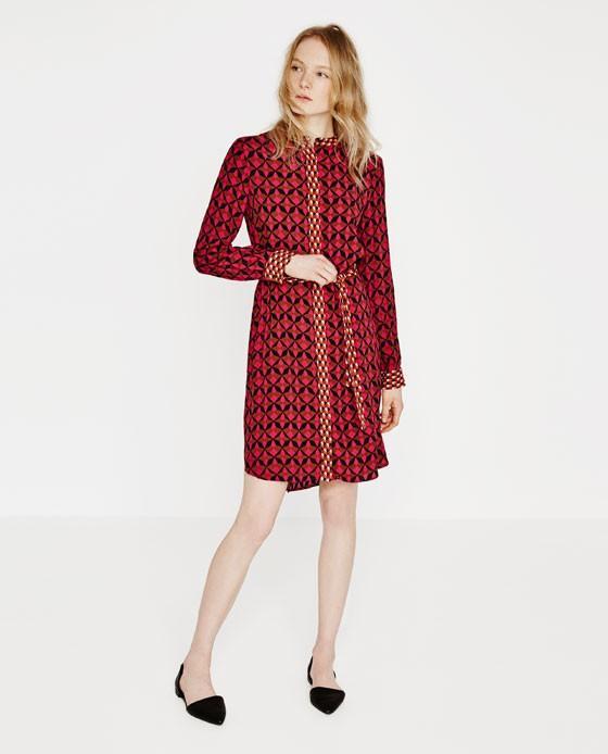 Zara Contrast Print Tunic