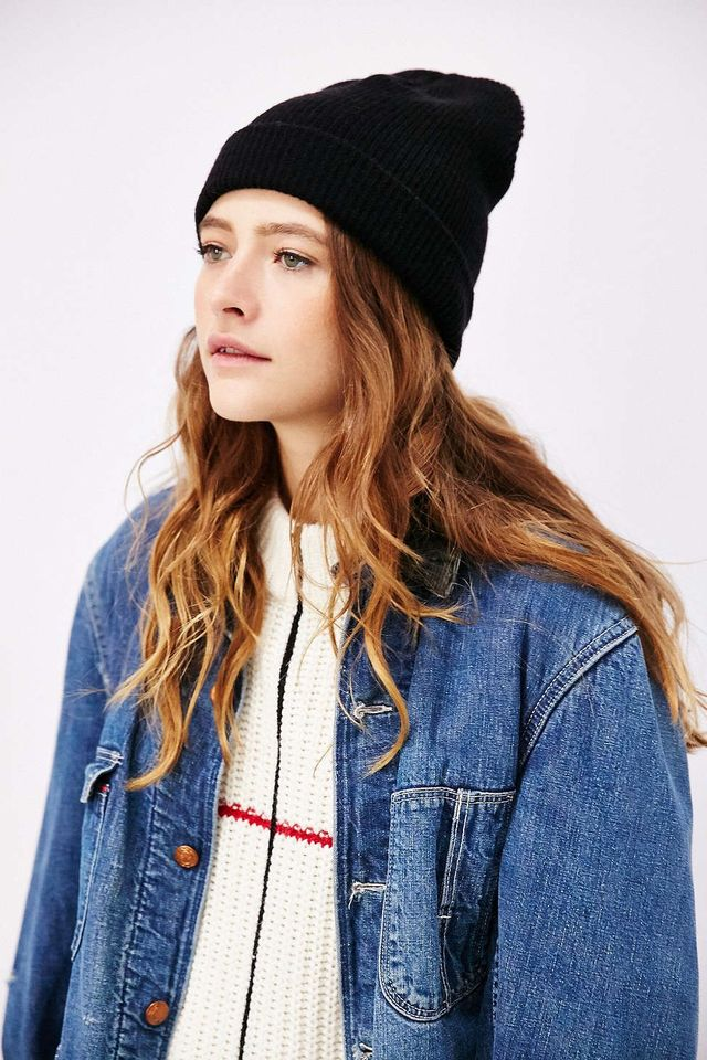 BDG Ribbed Knit Cuffed Beanie