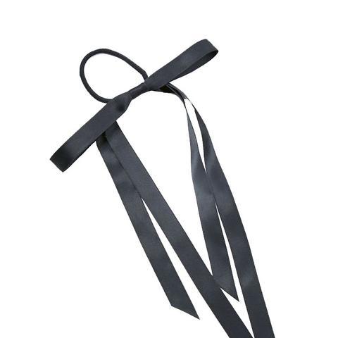 Black Satin Bow Hair Bobble