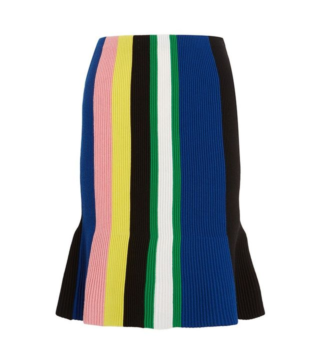 J.W.Anderson Striped Ribbed Merino Wool Skirt