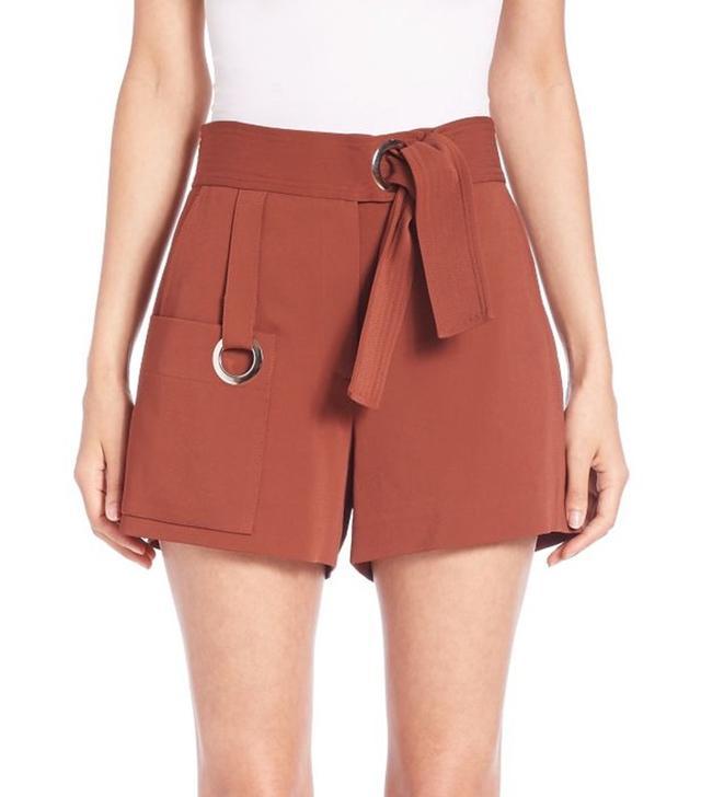 A.L.C. Lucile Trapunto-Stitched Shorts