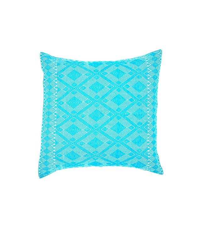 Luchometik for The Little Market Aqua Ponciana Woven Pillow