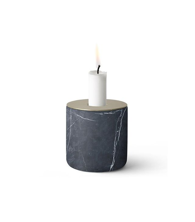 Menu Chunk of Black Marble Candleholder