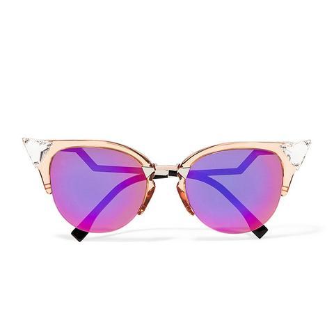 Swarovski Crystal-Embellished Cat-Eye Sunglasses