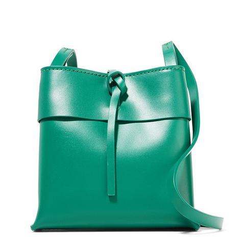 Nano Tie Leather Shoulder Bag