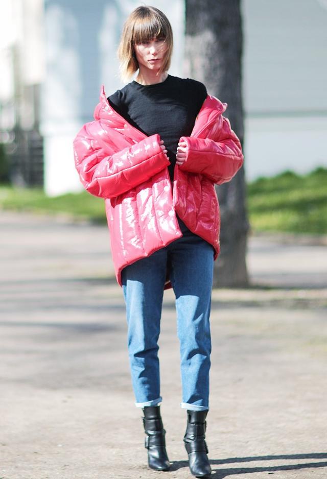 On Anya Ziourova:Balenciaga jacket; Pierre Hardy Leather Boots(£885/£442).
