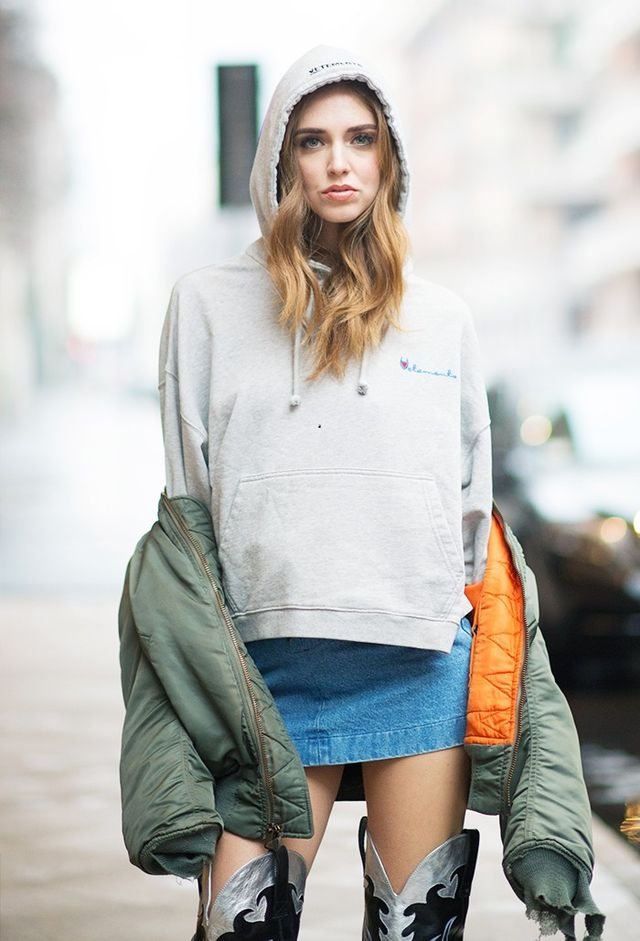On Chiara Ferragni:Vetements sweater and jacket. Will you adopt this look for yourself?Shop new-in jacketsto get the idea started.
