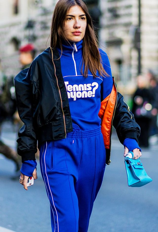 On Patricia Manfield:Lacoste top and trousers; Hermèsbag.