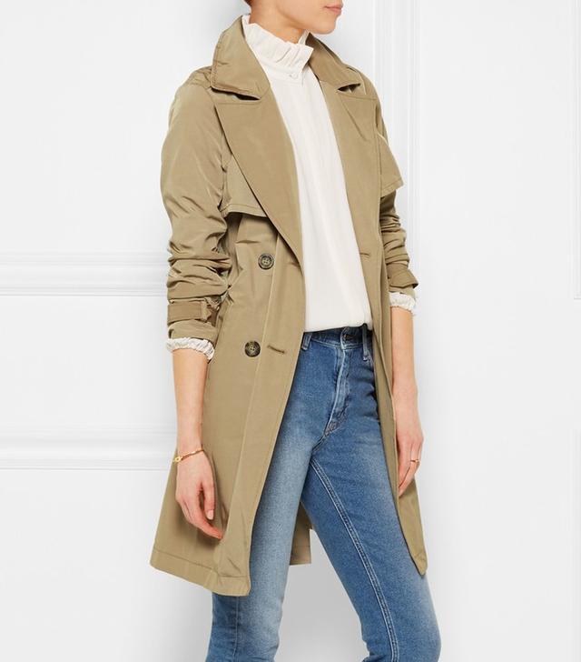 Madewell Parcel Cotton-Blend Gabardine Trench Coat