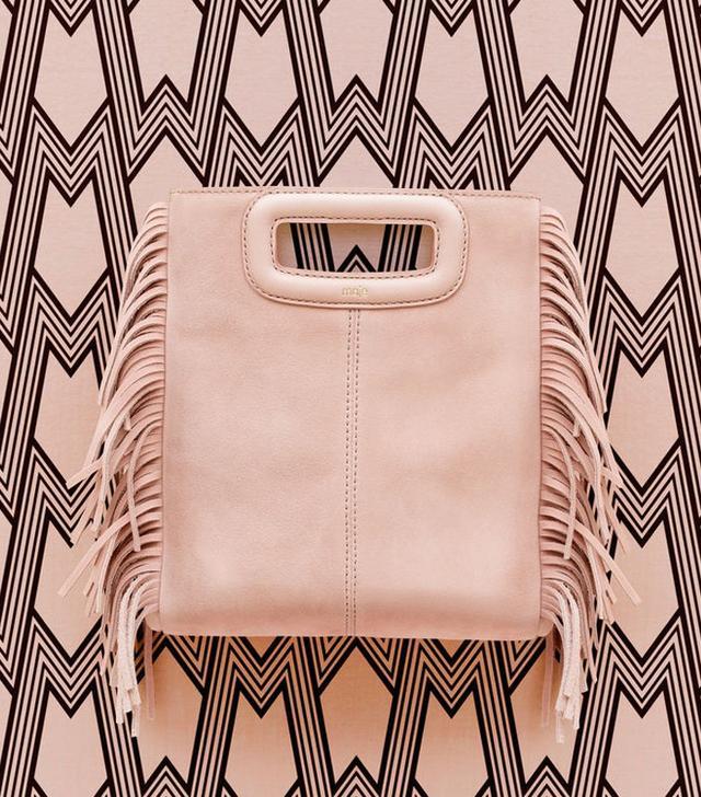 Maje Shelton Small Fringed Leather Bag