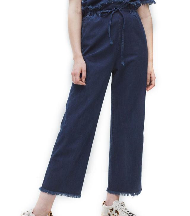 Mango Soft Denim Trousers