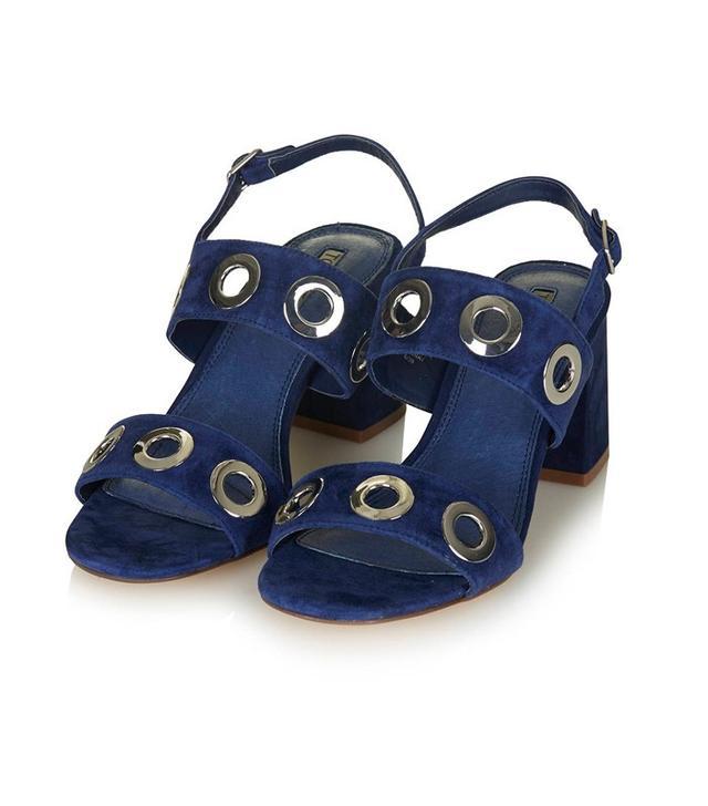 Topshop Round Eyelet Sandals
