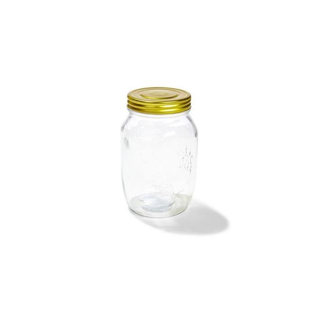 Kmart Glass Jar With Lid - 1.05 Litre