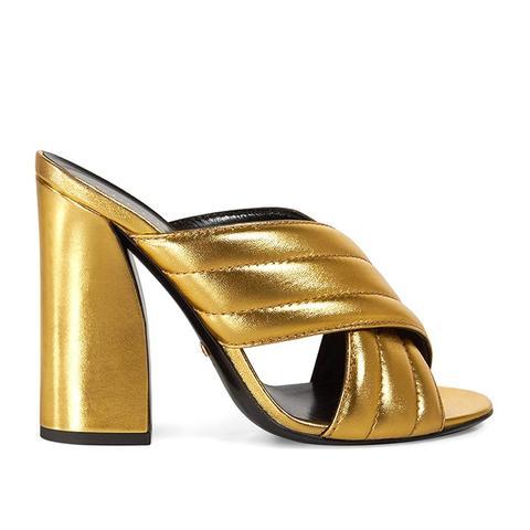Metallic Crossover Sandals
