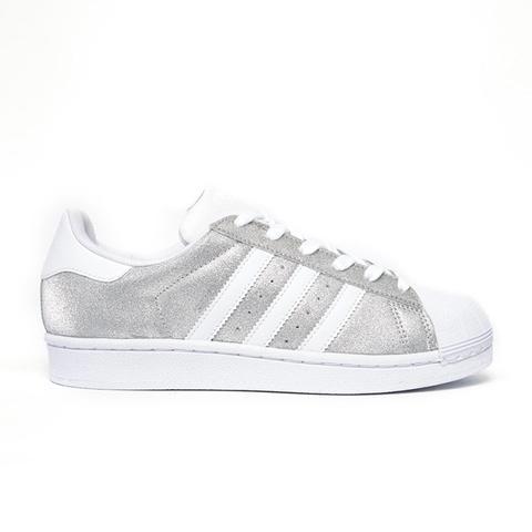 Silver Metallic Superstar Sneakers